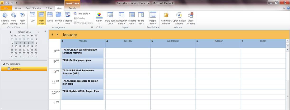 EasyProjectPlan SCREENSHOTS – Daily Task Calendar Template